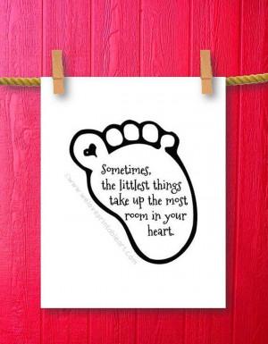 ... Littlest Things Baby Girl Nursery Decor Little Girl Framed Quote