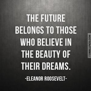 Eleanor Roosevelt The Future Dreams Quote Picture