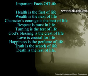facts of life health is the first of life wealth is the next of life ...