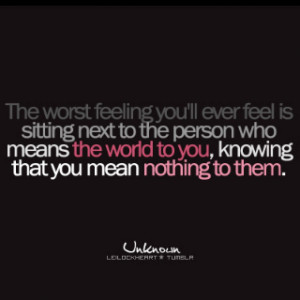 Really is the worst feeling.