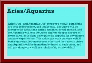 Match Love Aries /Aquarius