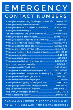 Numbers: LDS scripture references. Great for Young Women and Young ...
