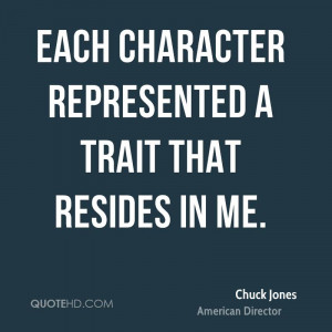 Each character represented a trait that resides in me.