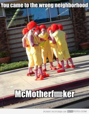 Ronald McDonald gang