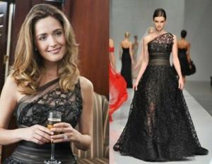 rose byrne black dress in bridesmaids the movie