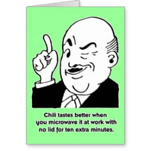 Cooking Chili - Funny Recipe Humor Quote Greeting Cards