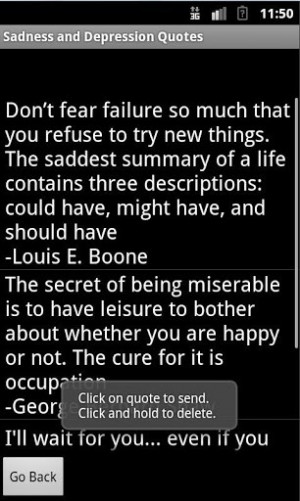 View bigger - Sadness and Depression Quotes for Android screenshot