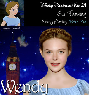 Disney Dreamcast No. 24 - Elle Fanning as Wendy (made by me)