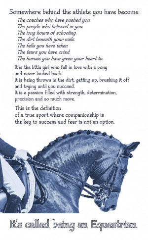 Be Equestrian Quote Photograph
