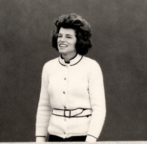 Pictured: Eunice Kennedy Shriver in a fashionable tennis look.