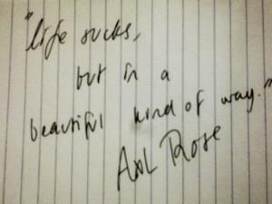 axl rose quote