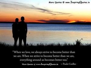Great Love Quotes by Paulo Coelho – Love Inspirational Sayings