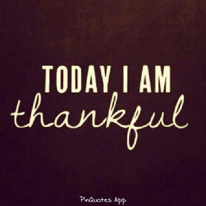 feel so blessed. Thanks be to God!