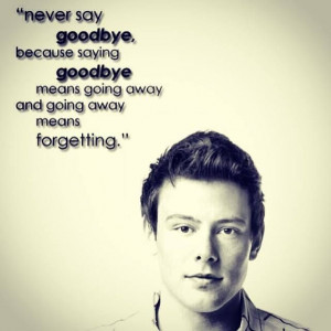 cory monteith quotes ripped cory things glee glee quotes finn monteith ...