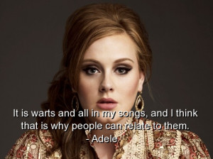 Adele Song Quotes