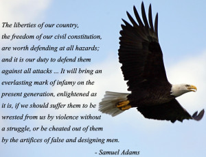 The liberties of our country, the freedom of our civil constitution ...