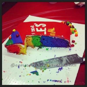 Skittles Birthday Cake