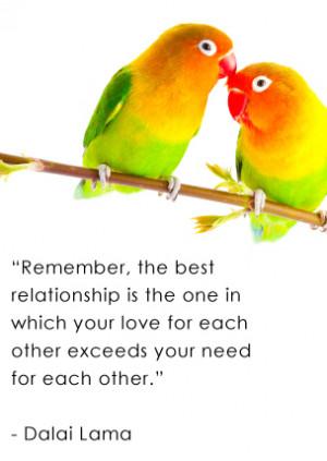 Birds Couple Love Quotes...