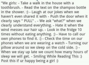 Being a girl.