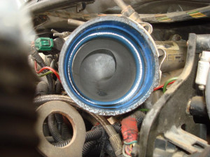 has a small puddle oil post turbo?