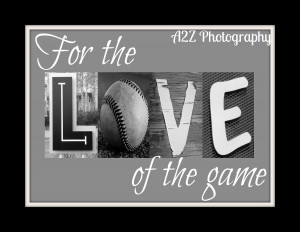 ... For the love of the game Photo Print. Perfect for any Baseball fan