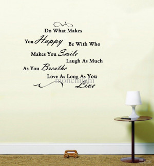 5pcs/lot Do What Makes you Happy Quote Vinyl Wall Art Sticker Decal ...