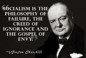 winston churchill quote, socialism failure