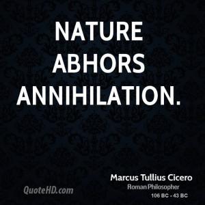 Marcus Tullius Cicero Nature Quotes