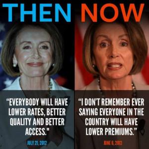 Pelosi taken apart by David Gregory on false Obamacare promises