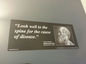 Hippocrates Quotes Spine Look well to the spine for the