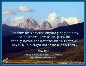Sheri Dew Saviors empathy