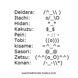 AKATSUKI EMOTICONS I