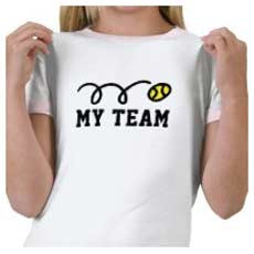 Tennis Clothing For Women Personalize With Your Text Name