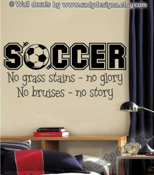 Soccer Sports Vinyl Wall Decal - Boys Room Decor - Children Decor ...