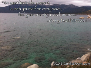 You must live in the present, launch yourself on every wave, find your ...