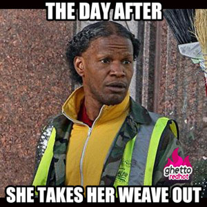 the-day-after-she-takes-her-weave-out