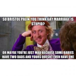 bristol Palin gay marriage