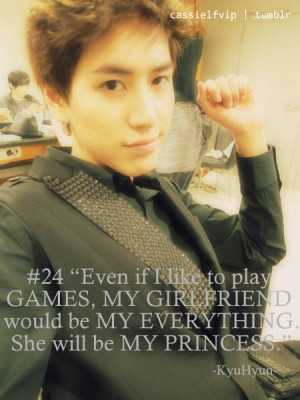 Random Posts] Kyuhyun's Quotes (with Pics)