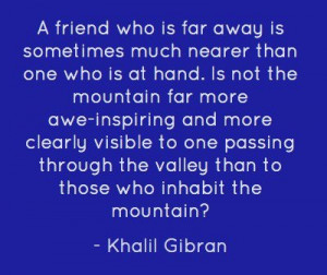 Khalil gibran, quotes, sayings, friendship, amazing quote