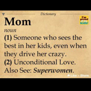 Definition of Mom.... Superwoman is about right.