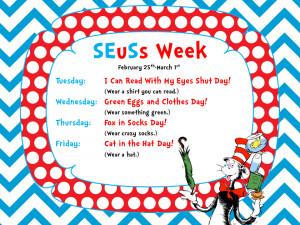 This Week in the Library...It's SEuSs Week!