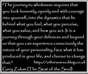 QUOTE: Wholeness (Gary Zukav)