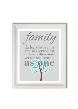 Family art print family quote family wall by PinkMilkshakeDesigns, £ ...
