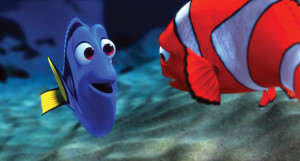Dory is a regal blue tang, which you might want to remind her of if ...