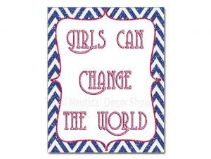Navy Pink Nursery Art, Baby Girl Quotes, Navy Pink Girl's Room, Dorm ...