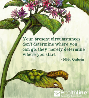 Your present circumstances don't determine where you can go; they ...