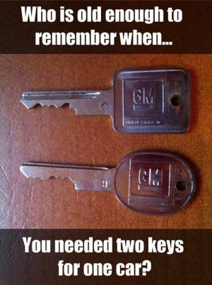 Two keys for a car