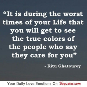 True colors of people..
