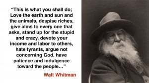 Walt Whitman Love Quotes