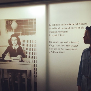Beyoncé visits Anne Frank House